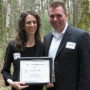 The 2009 Andrea Swanner Redding Outstanding Mentor Award recipient, Alex West '99, and her mentee...