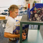 Todd Jones, a longtime history and government teacher at West Linn High, is shown setting up his ...