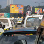 Traffic in Nairobi, Kenya, one stayover point for students in our East Africa overseas program. N...