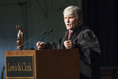 Lewis & Clark College, Graduation, Commencement Ceremony, Romeo Dillaire speaker,  Portland, ...