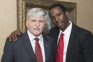General Dallaire and Dallaire Scholar Emmanuel Habimana