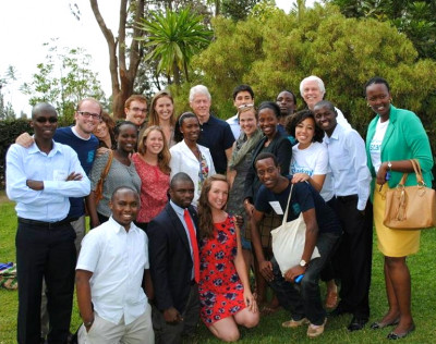 Kelvine Muhire, GHC Fellows meet President Clinton