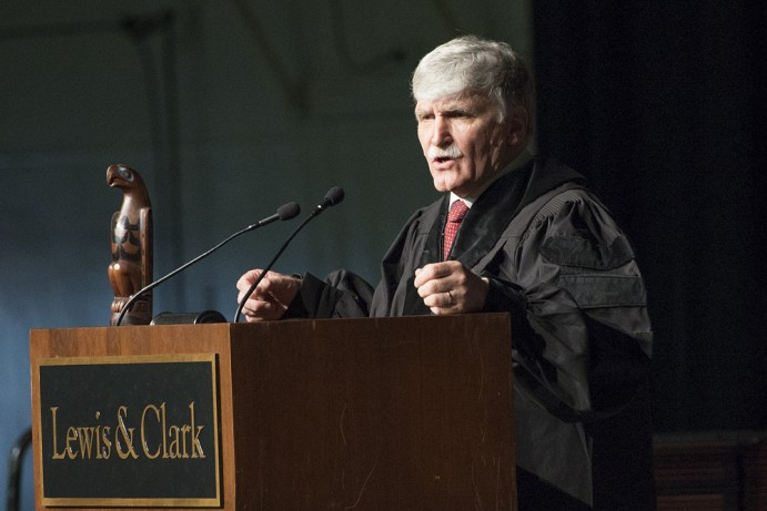 Lewis and Clark College, Graduation, Commencement Ceremony, Romeo Dillaire speaker, Portland, Ore...