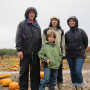 Finding pumpkins at Rasmussen Farms in Hood River