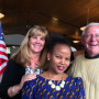 Dallaire Scholar, Pascaline Umulisa, and her Community Friends, Wendy and Rod Bond, enjoy the Rwa...