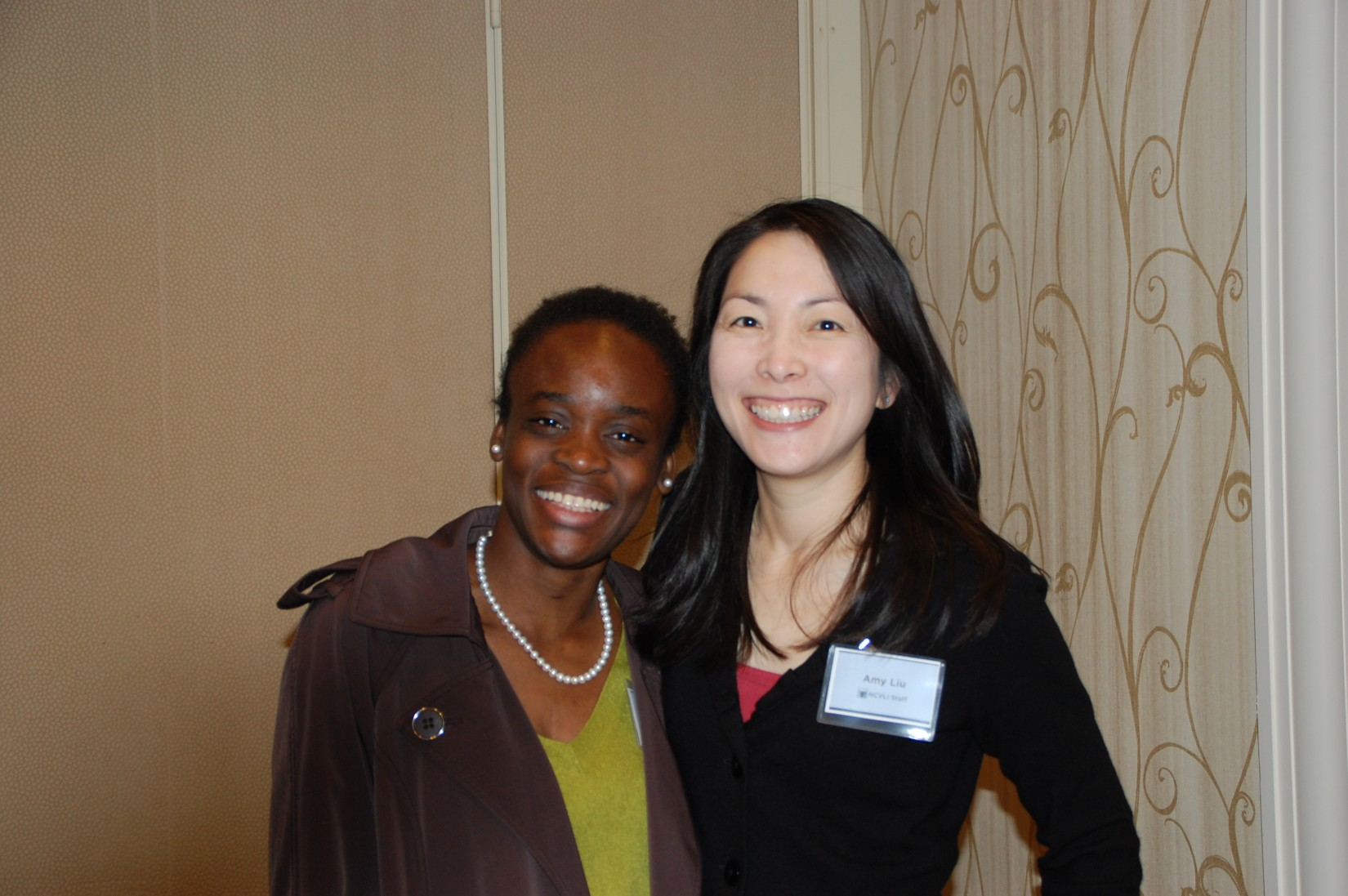 NCVLI staff members Fumi Owoso and Amy Liu.