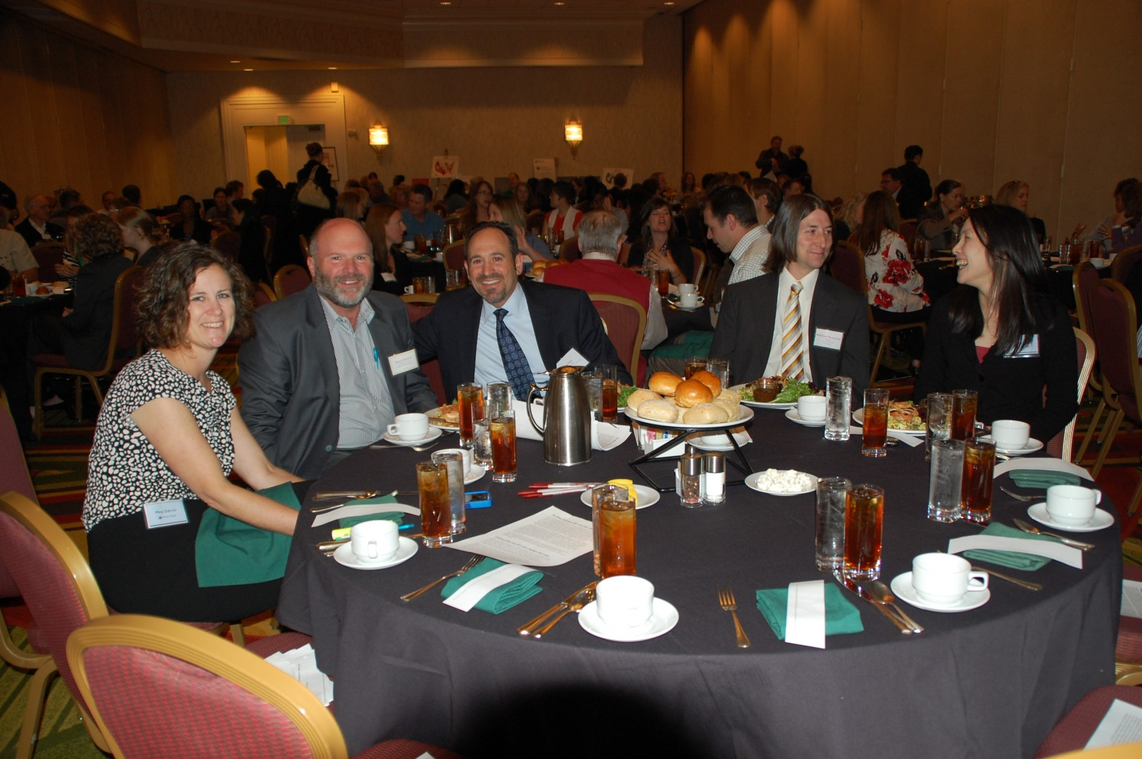 Meg Garvin, Doug Beloof, Michael Fell, Matthew Merryman, and Amy Liu enjoy lunch at the Conference.