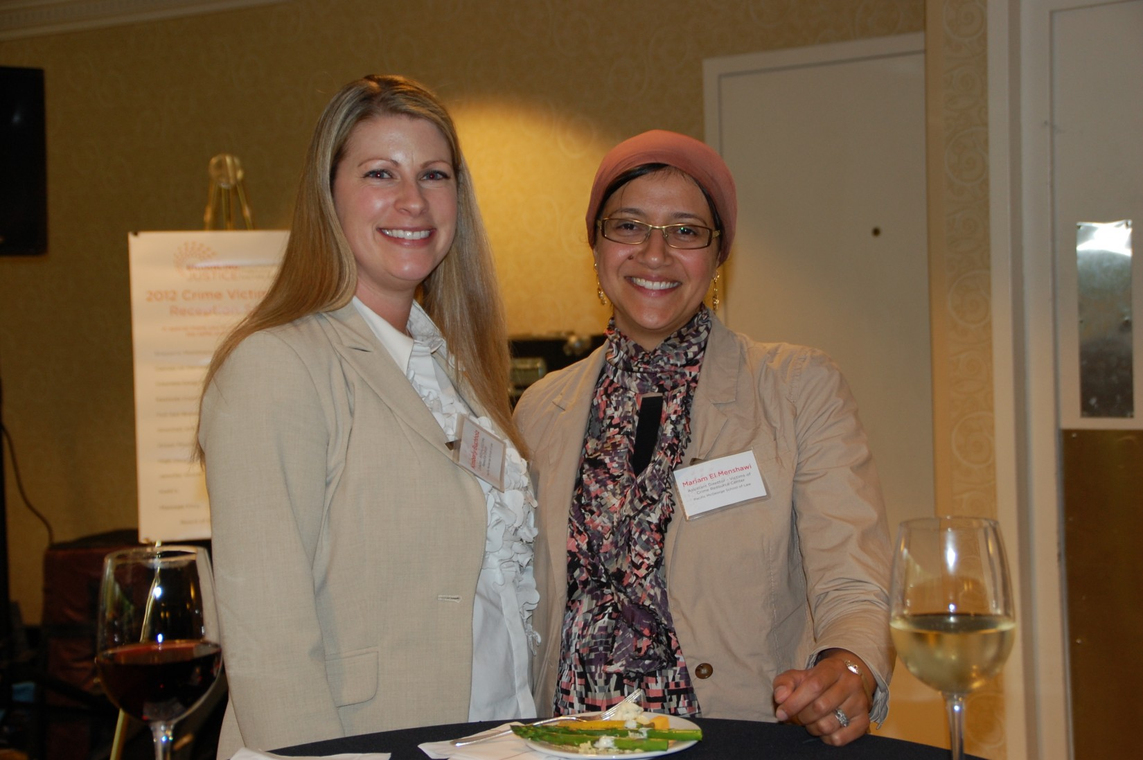 Attendees at the Crime Victims' Rights Reception on the first evening of the Conference