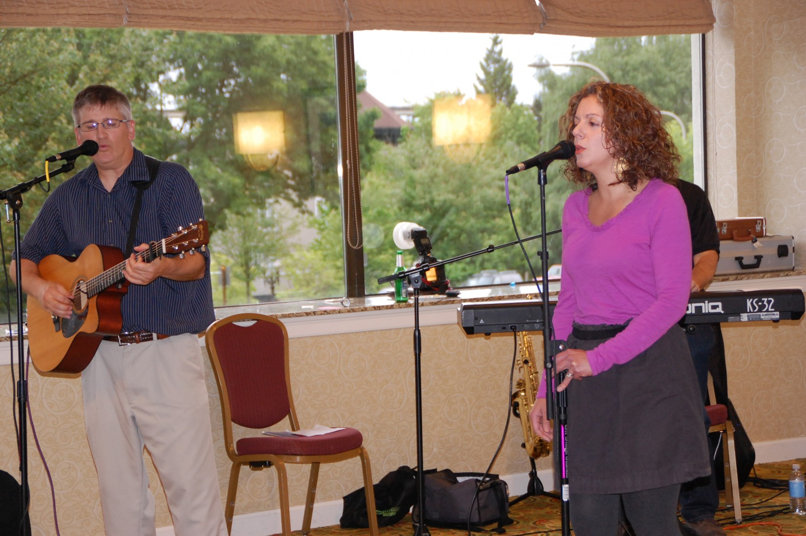The local band, SloeGinFizz, provided musical accompaniment at the Crime Victims' Rights Reception