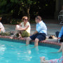 People beat the heat at the pool and enjoy an afternoon outside of the office
