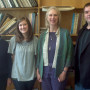 From left to right:  Dinah Dodds, department chair of music; Julia  Yeckes '13; Mariel Bailey '72...