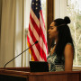 Ambrea Crawford '17 served on the Banquet Planning Committee and presented the Senior Reflectio...
