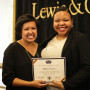 Angela Buck (left) presented Tiffany Farmer (right) with the Ray Warren Leadership Award at the I...
