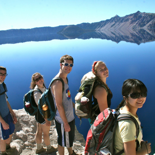 College Outdoors trip to Crater Lake