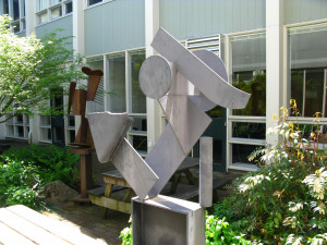 Sculpture in the Interior Courtyard of Templeton Campus Center