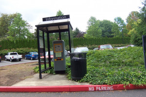Parking permit kiosk, Parking Lot C