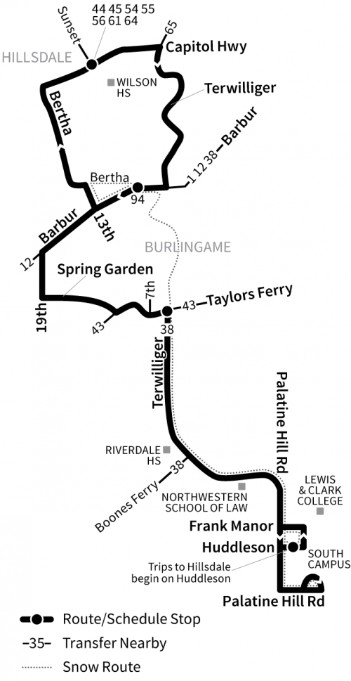 Route 39 Route Map
