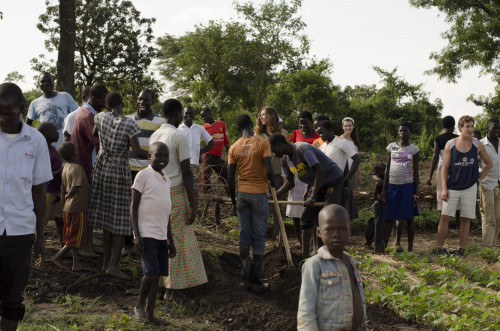 Planting the Seeds of Peace Ambassadors in action in northern Uganda this summer.  Photo by Saskia Sichermann.