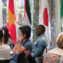 Incoming Lewis & Clark Freshmen attend NSO surrounded by the flags of the world 2019
