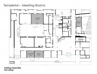 The meeting rooms in Templeton Campus Center range in size and capacity.