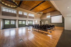 Room area (sq. ft.) 1,900. Smith Hall can be arranged as follows: banquet, theater, reception, cl...