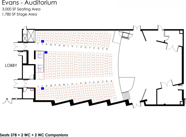 auditorium theater seating diagram