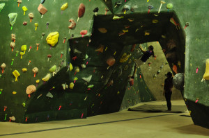 Climbing Wall at the Circuit