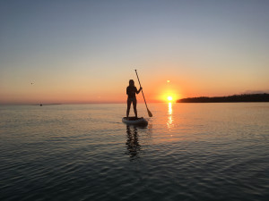 Stand-Up Paddleboarding at Sunset in Florida