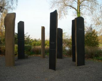 Image Description: An art installation honoring Poet Laureate William Stafford at Foothills Park ...