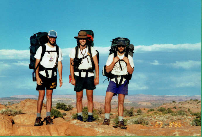 Desert backpacking circa 1996