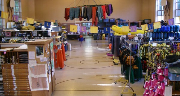 The Sequoia equipment warehouse has thousands of items available to students.