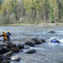 Saving a trapped instructor serves to teach participants crucial skills in the Swiftwater Rescue ...
