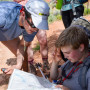 Map and compass skills take time to master in Utah's slickrock canyon terrain.