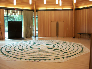 Our Labyrinth in the Gregg Pavilion.