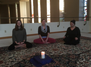 Meditation in the South Chapel balcony