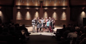Senior a cappella singers at the Baccalaureate Celebration