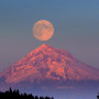 Full moon over Mt. Hood