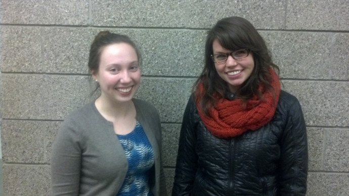 Emily Tribble '15 (left) and McKay Campbell '14