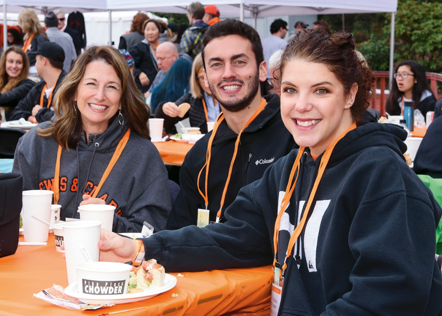 Nearly 1,000 people gathered on Palatine Hill to attend Homecoming and Family Weekend in October.