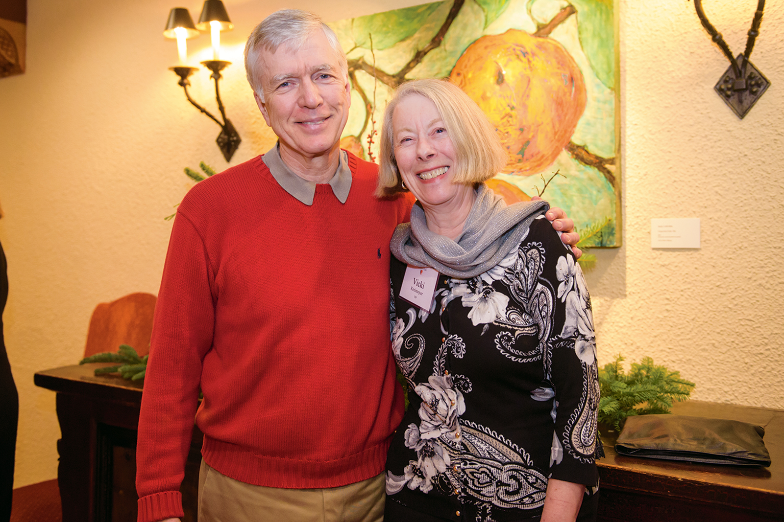 David Busby BS '70 and Vicki Kreimeyer BA '69.