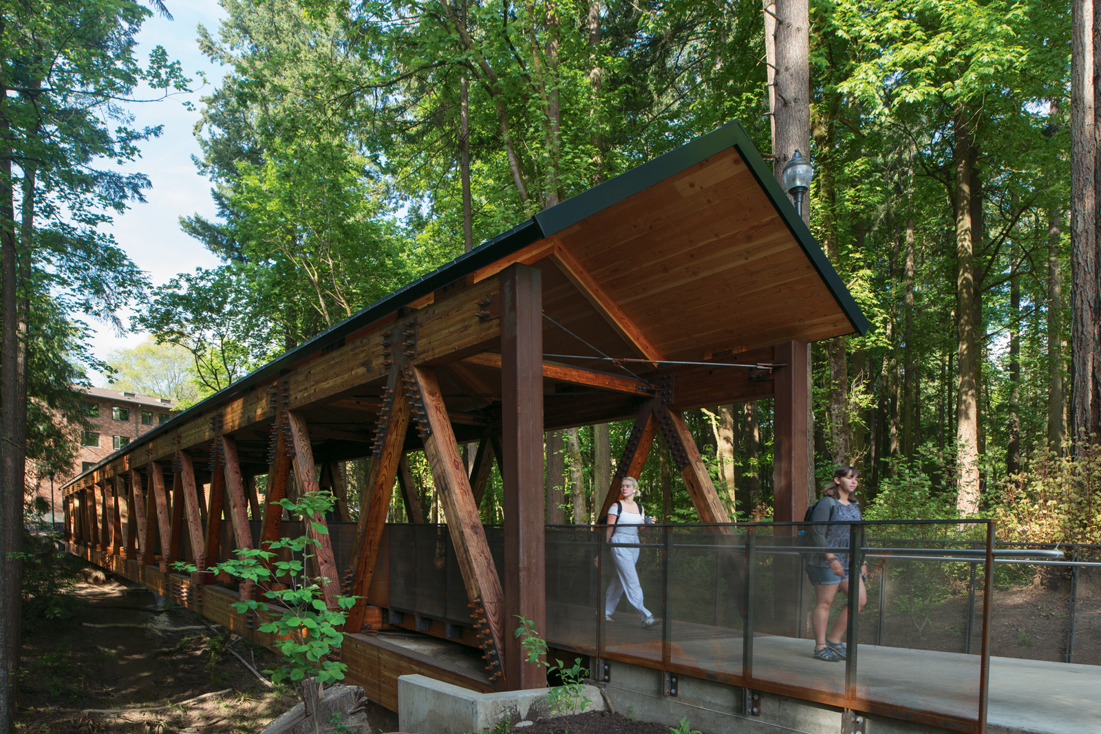 Lewis & Clark's new ravine bridge, which replaced the original built in 1954, opened this s...