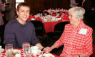 Danil Semenov '07, recipient of the Grace Spacht Memorial scholarship, with Jane Bryson, life tru...