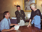 Robert F. Kennedy Jr. signs copies of his new book, Crimes Against Nature, in Frank Manor House.