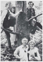 "The ""family tree."" From left: Bret, Kit, Kim, Barbara, with William and Dorothy Stafford."