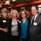 Associate Dean Susan Mandiberg, Dean Jennifer Johnson, Oregon Governor Kate Brown JD '85, and Pre...