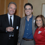 Marc Casto (center) with his mother, Maryles Casto, and Fabio Castellotto, manager of Casto Vacat...