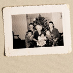 The Sack brothers are shown here in the early 1950s with their maternal grandmother, Lutie Hyink,...