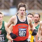 Liam Monheim BA ?20, who was named the Northwest Conference?s Freshman of the Year, races in the ...