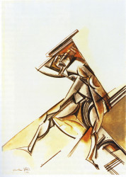 Wyndham Lewis, The Vorticist (1912).