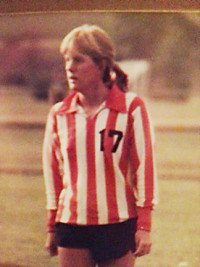 Emily's mother, Erin Hedenberg, played soccer for the Pioneers in the 1980s.